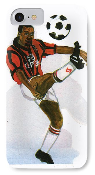 George Weah In Action Phone Case by Emmanuel Baliyanga