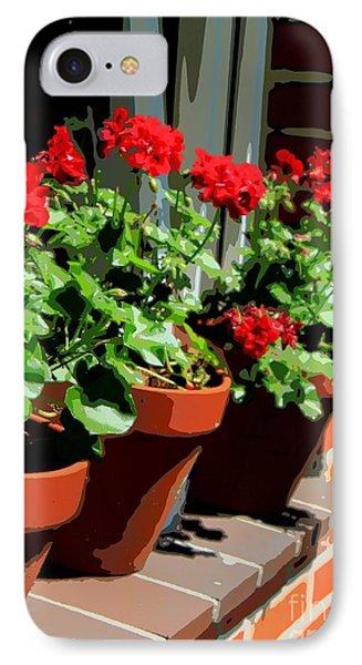Geraniums In Germany Phone Case by Carol Groenen