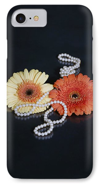Gerberas With Pearls Phone Case by Joana Kruse