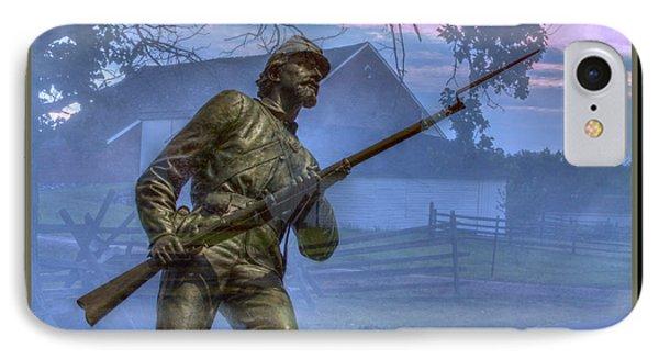 Gettysburg Battlefield Poster Phone Case by Randy Steele