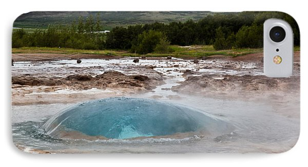 Geysir Eruption Sequence Phone Case by Greg Dimijian