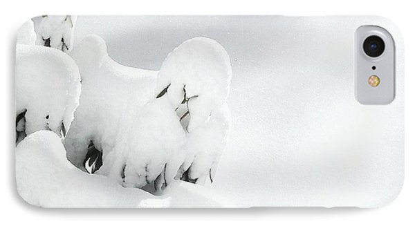 IPhone Case featuring the photograph Ghostly Snow Covered Bush by Pamela Hyde Wilson