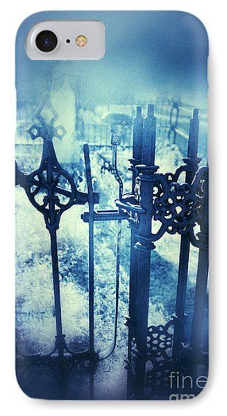 Ghostly Woman In The Cemetery Phone Case by Jill Battaglia