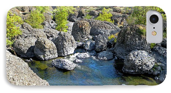 Giant Basalt Boulders Swimming Hole Phone Case by Frank Wilson