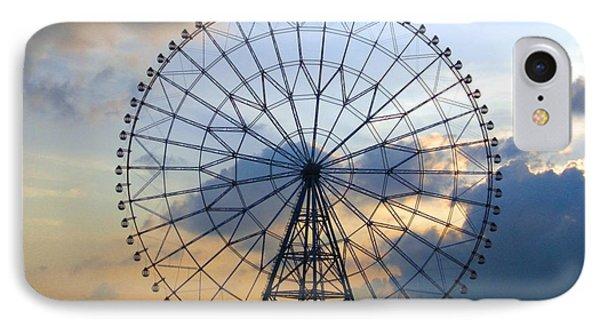 Giant Ferris Wheel At Sunset Phone Case by Paul Van Scott