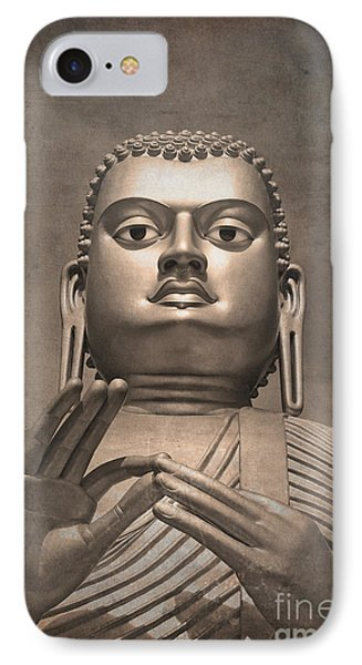 Giant Gold Buddha Vintage IPhone Case by Jane Rix