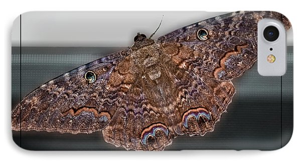 IPhone Case featuring the photograph Giant Moth by DigiArt Diaries by Vicky B Fuller