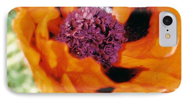 Giant Orange Poppy IPhone Case