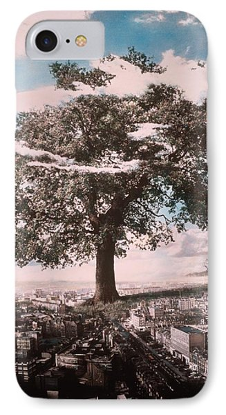 Giant Tree In City Phone Case by Hag
