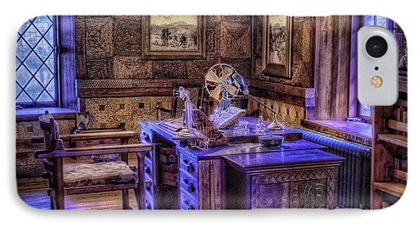 Gillette Castle Office Hdr Phone Case by Susan Candelario