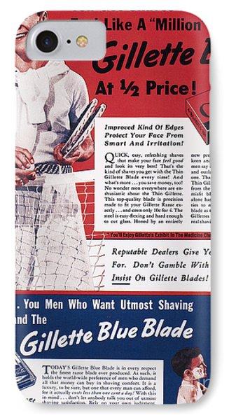 Gillette Razor Ad, 1939 Phone Case by Granger
