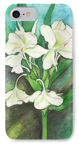 IPhone Case featuring the painting Ginger Lilies by Carla Parris