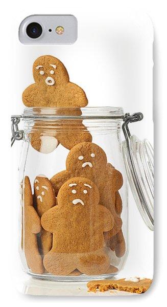 Gingerbread Men Escape Phone Case by Amanda Elwell