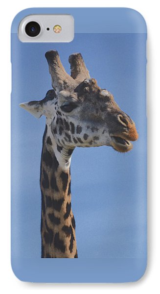 IPhone Case featuring the photograph Giraffe Headshot by Tom Wurl