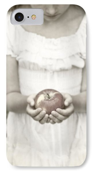 Girl And Apple Phone Case by Joana Kruse