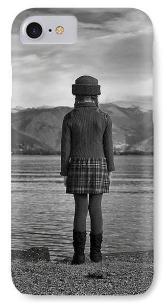Girl At A Lake Phone Case by Joana Kruse