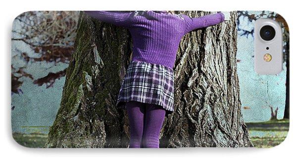 Girl Hugging Tree Trunk Phone Case by Joana Kruse