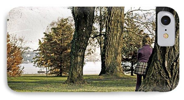 Girl In Autumn Phone Case by Joana Kruse