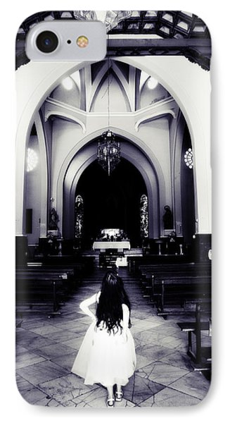 Girl In The Church Phone Case by Jenny Rainbow