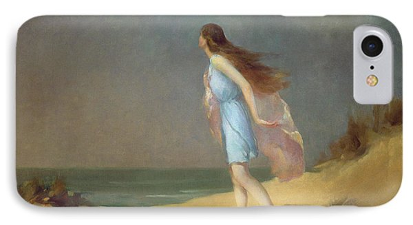 Girl On The Beach  IPhone Case by Frank Richards