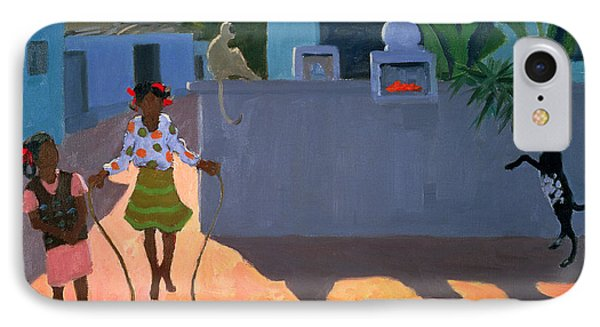 Girl Skipping Phone Case by Andrew Macara