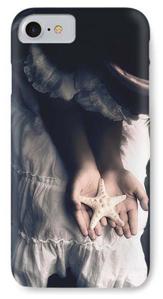 Girl With A Starfish Phone Case by Joana Kruse