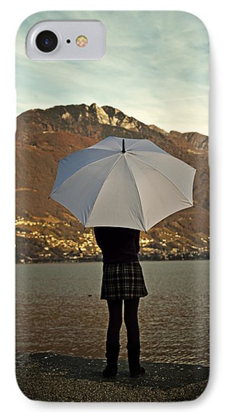 Girl With Umbrella Phone Case by Joana Kruse
