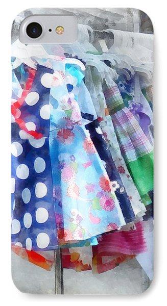 Girl's Dresses At Street Fair Phone Case by Susan Savad