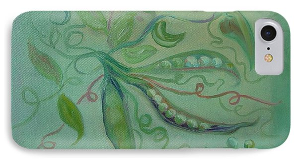 IPhone Case featuring the painting Give Peas A Chance by Carol Berning