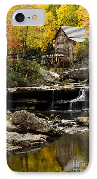 Glade Creek Grist Mill IPhone Case by Carrie Cranwill