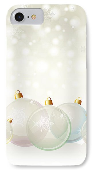 Glass Baubles Pastel Phone Case by Jane Rix