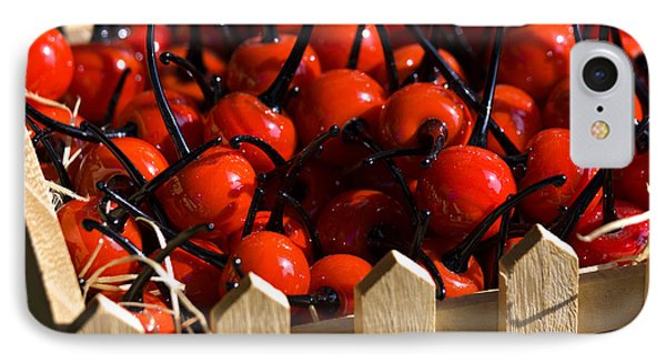 IPhone Case featuring the photograph Glass Cherries by Raffaella Lunelli