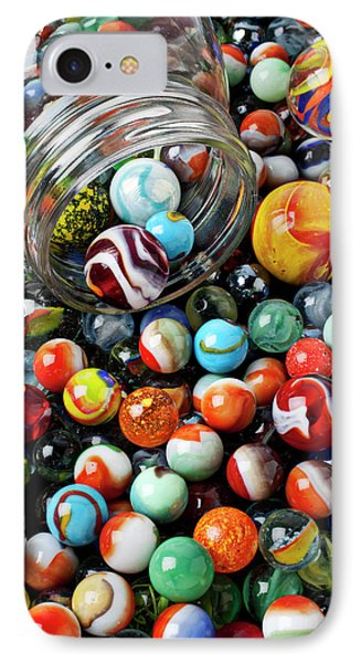 Glass Jar And Marbles Phone Case by Garry Gay