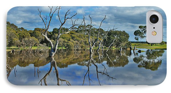 IPhone Case featuring the photograph Glass Lake by Stephen Mitchell