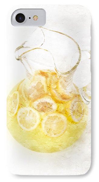 Glass Pitcher Of Lemonade Phone Case by Andee Design