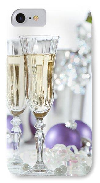 Glasses Of Champagne Phone Case by Amanda Elwell