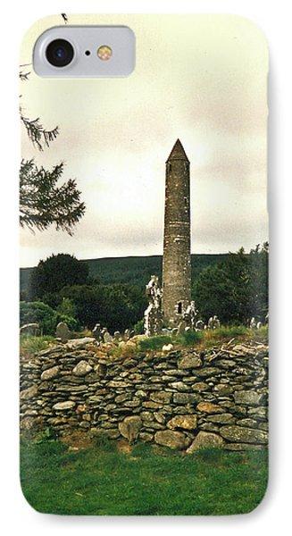 Glendalough Tower 1 IPhone Case by Douglas Barnett
