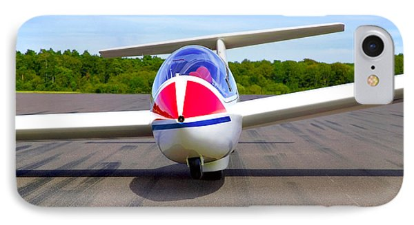 Glider On A Runway Phone Case by Richard Thomas