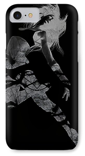 Gliding IPhone Case by Naxart Studio