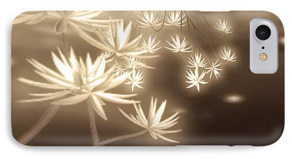 Glowing Flower Fractals IPhone Case