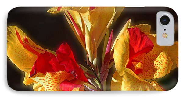 IPhone Case featuring the photograph Glowing Iris by DigiArt Diaries by Vicky B Fuller
