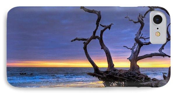 Glowing Sands At Driftwood Beach Phone Case by Debra and Dave Vanderlaan