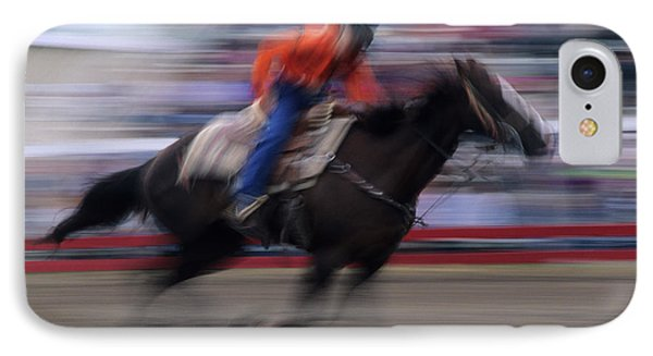 Rodeo Go For Broke IPhone Case by Bob Christopher