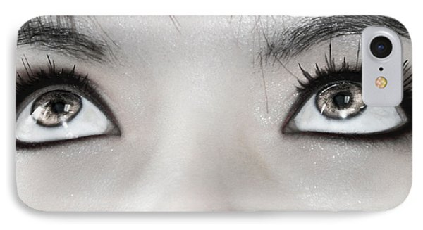 IPhone Case featuring the photograph Goddess Eyes by Ester  Rogers