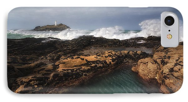 Godrevy Lighthouse In Cornwall, England Phone Case by Arild Heitmann