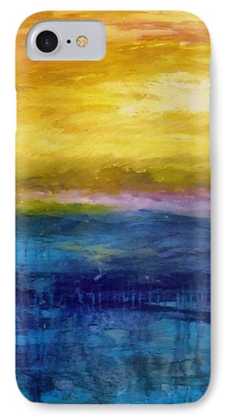 Gold And Pink Sunset Ll Phone Case by Michelle Calkins