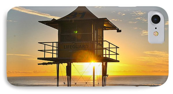 IPhone Case featuring the photograph Gold Coast Life Guard Tower by Eric Tressler