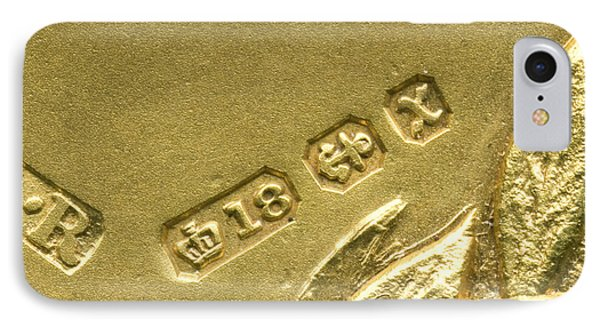 Gold Hallmarks, 1897 Phone Case by Sheila Terry