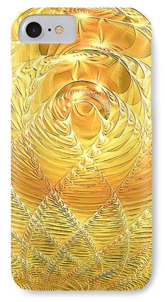 IPhone Case featuring the digital art Gold Pressed Latinum by Lea Wiggins