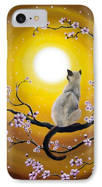 Golden Afternoon Sakura IPhone Case